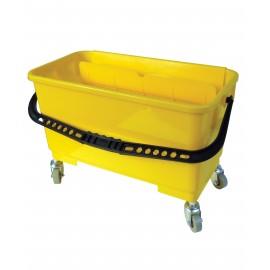 Seau pour lavage de vitre avec support pour le mouilleur - 4,6 gal (21 L) - jaune