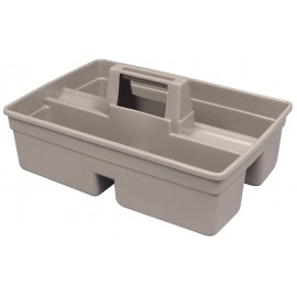 Bac en plastique pour produits de nettoyage - gris