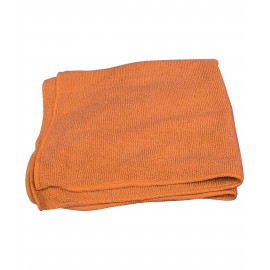 MICROFIBER CLOTH - 16' X 16' - ORANGE (WITH JOHNNY VAC LOGO)