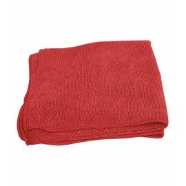 MICROFIBER CLOTH - 16' X 16'- RED