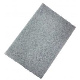 Tampon à récurer - très résistant - 9'' X 6'' X 0,7'' (22,8 cm x 15,2 cm x 1,7 cm) - gris