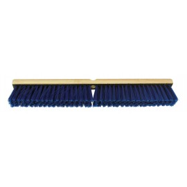 24'' COMMERCIAL PUSH BROOM - BLUE