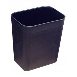 X-SMALL WASTEBASKET BLACK 1 GAL / 3.78 L