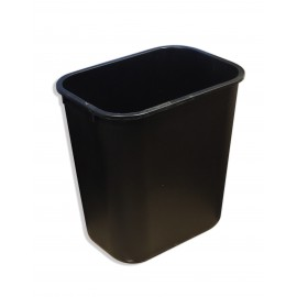Office Trash Can / Bin - Wastebasket - 1.6 gal (6 L) - Black