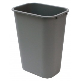 Light Trash Can / Bin - Wastebasket - 10.25 gal (38 L) - Grey