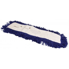 "Synthetic Oval Dust Mop - 5'' x 48"" - (12.7 cm x 121.9 cm) - Blue"