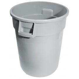 Poubelle ronde - 44 gal (167 L) - grise