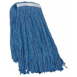 SYNTHETIC NARROW BAND FLAT MOP HEAD - 32 OZ. - BLUE
