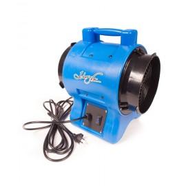 """Industrial Blower / Fan / Floor Dryer - Johnny Vac - Fan Diameter 8"""" (20.3 cm) - Sealed Motor - 1 speed - with Handle - Blue"""