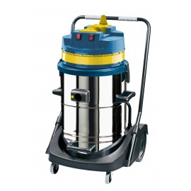 JV420M - WET & DRY COMMERCIAL VACUUM WITH TIPPING METAL TANK - 158 GAL 1600 W - JOHNNY VAC