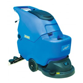 "AUTOSCRUBBER JVAC TRACTION With Drive 22 ""Amps/Batt and Charger, the Switch of Type Key, Scraper in the Shape of V Leaves No Mark or Residue, the Blades of the Scraper Can Be Used in Four Directions"