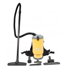 Backpack Vacuum JVT1 from Johnny Vac with Aluminum Wand & Toolset, HEPA, 30' Power Cable, Harness