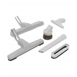 """Central Vacuum Brush Kit - 11"""" (29.7 cm) Carpet Brush - 10"""" (25.4 cm) Floor Brush - Dusting Brush - Upholstery Brush - Crevice Tool - Grey"""