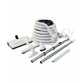 Équipement complet pour aspirateur central - boyau 35' 24-110 V Plastiflex KIT2435EZ