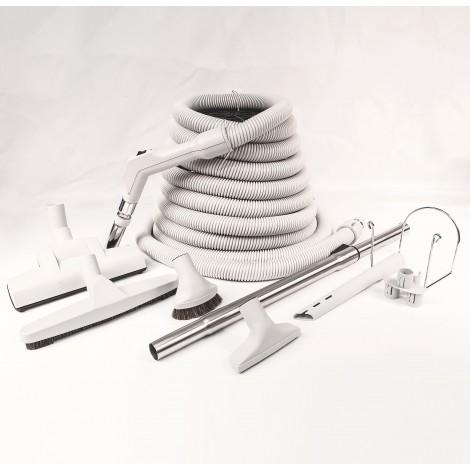 KIT CENTRAL VACUUM - 30' X 1 3/8 HOSE - WESSEL WERK AIR NOZZLE