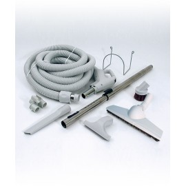 CENTRAL VACUUM KIT - 30' X 1 3/8HOSE WITH BUTTON - TELESCOPIC WAND