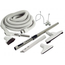 UNIVERSAL CENTRAL VACUUM KIT - 30' X 1 3/8 HOSE - FRICTION - PISTOL GRIP - WITH KI554G