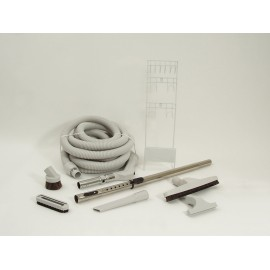 CENTRAL VACUUM KIT - 30' HOSE - DELUXE TOOLS