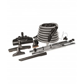 KIT FOR CENTRAL VACUUM HOSE 30' PN360 WESSEL DELUXE BLACK