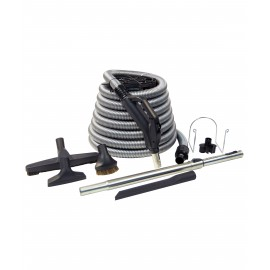 KIT FOR CENTRAL VACUUM SILVER 35'X1 3/8 W BUTTON AND TELESCOPIC WAND