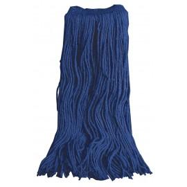 Tête de vadrouille pour laver les planchers - 70% coton 30% synthétique - 20 oz (550 g) - bleue
