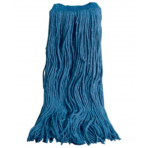 Flat Mop Head 70% Cotton 30% Synthetic - 24 Oz (650 G) - Blue
