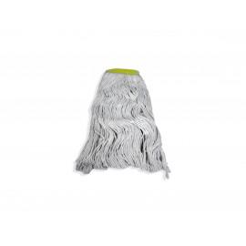 Tête de vadrouille pour laver les planchers - 70% coton 30% synthétique - 24 oz (650 g) - blanc