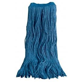 Tête de vadrouille / moppe en coton de rechange - humide pour laver - 28 oz (750 g) - bleue - Select FBES28