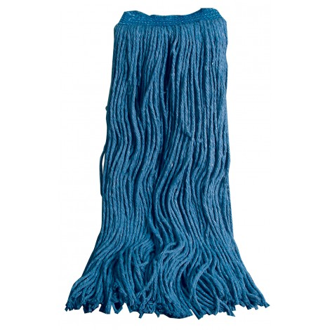 Flat mop head - 70% cotton 30% synthetic - 28 oz (750 g) - blue