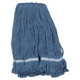 Tête de vadrouille humide bouclée à bandes étroites de taille moyenne et couleur bleu