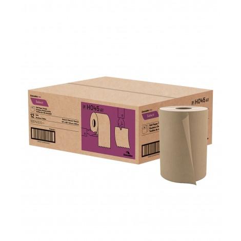 "Paper Hand Towel - 7.8"" (19.8 cm) - Width - Roll of 425' (129.5 m) - Box of 12 Rolls - Brown - Cascades Pro H045"