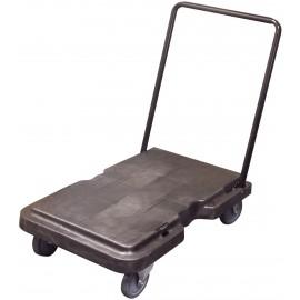 Chariot plate-forme pliant - 3' x 2' (0,9 m x 0,6 m) - poignée en métal - gris foncé