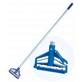 Manche en métal à déclanchement rapide pour vadrouille - 15' (1,5 m) - Bleu