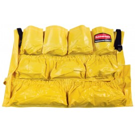 CADDY BAG FOR ROUND WASTE CONTAINER - YELLOW