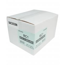 """Sacs à poubelle / ordures commercial - régulier - 30"""" x 38"""" (76,2 cm x 96,5 cm) - noir - boîte de 250"""