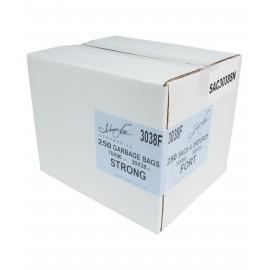 """Sacs à poubelle / ordures commercial - robuste - 30"""" x 38"""" (76,2 cm x 96,5 cm) - noir - boîte de 250"""