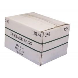 """Sacs à poubelle / ordures commercial - régulier - 35"""" x 50"""" (88,9 cm x 127 cm) - noir - boîte de 250"""