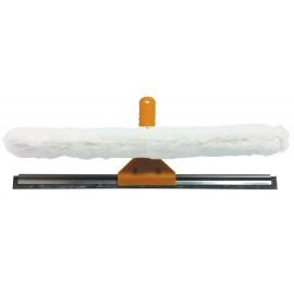Racloir double fonction - avec lame de caoutchou ou mouilleur - manche en aluminium