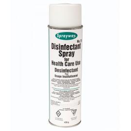 Désinfectant en aérosol - pour utilisation dans les établissements de soins - 15,5 oz (439 g) - Sprayway SW015DIN