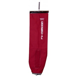 Cloth Bag with Zipper for Commercial Upright Vacuum - Red