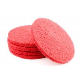"""Tampons pour polisseuse à plancher - pour lustrer et vaporiser/polir - 13"""" (33 cm) - rouge - boîte de 5 - 66261054272"""