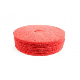 """Tampons pour polisseuse à plancher - pour lustrer et vaporiser/polir - 15"""" (38,1 cm) - rouge - boîte de 5 - 66261054274"""