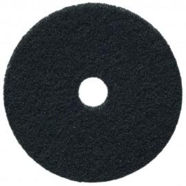 """Tampons pour polisseuse à plancher - pour décaper - 18"""" (45,7 cm) - noir - boîte de 5 - 66261054228"""