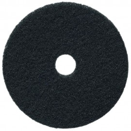 """Tampons pour polisseuse à plancher - pour décaper - 19"""" (48,2 cm) - noir - boîte de 5 - 66261054229"""