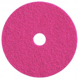 """Tampons pour polisseuses à plancher - pour brunissage à haute vitesse - 20"""" (50,8 cm) - rose - boîte de 5 - 66261005155"""