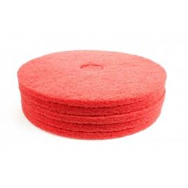 """Tampons pour polisseuse à plancher - pour lustrer et vaporiser/polir - 20"""" (50,8 cm) - rouge - boîte de 5 - 66261054279"""