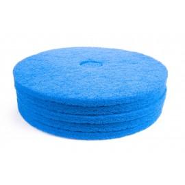 """Tampons pour polisseuse à plancher - pour récurer - 21"""" (53,3 cm) - bleu - boîte de 5 - 66261054248"""