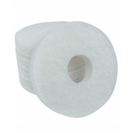 FLOOR MACHINE PADS - FOR POLISHING - 6½' - WHITE - BOX/5