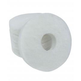 """Tampons pour polisseuse à plancher - super polissant - pour vaporiser/polir - 6,5"""" (16,5 cm) - blanc - boîte de 5 - 66261008823"""