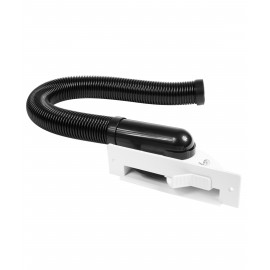 Automatic Dust Pan for Central Vacuum - White - With Flexible Hose and Installation Kit Included